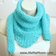 MettaMoon Turquoise Blue Cowl Scarf