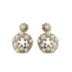 Complete your gorgeous appearance during the pujas, wearing these beautiful danglers from Chandrani Pearls. Vogue, Pearls, Floral, Earrings, How To Wear, Beautiful, Color, Jewelry, Collection