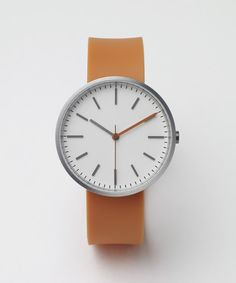 104 SERIES Brushed Steel / Orange Rubber | Uniform Wares