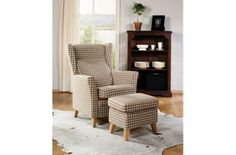 Atene hvilestol chair beige brown fabric with footrest ottoman norwegian design formfin www.helsetmobler.no