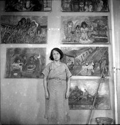 Interna no ateliê da Escola Livre de Artes Plásticas, no Hospital Psiquiátrico do Juquery. Franco da Rocha, 1950 / Alice Brill | Acervo Instituto Moreira Salles