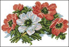 Cross Stitch Embroidery, Cross Stitch Patterns, Acrylic Painting Flowers, Anemone Flower, Bead Loom Bracelets, Cross Stitch Flowers, Loom Beading, Close Image, Handicraft