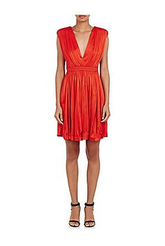EMANUEL UNGARO Pleated Cocktail Dress - was $2145.0, now $539.0 (75% Off) @ Barneys Warehouse