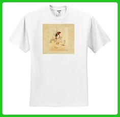 Florene Fairies And Fantasy - Image Of Painted Butterfly Fairy with Smaller Fairies - T-Shirts - Adult T-Shirt XL (ts_255332_4) - Fantasy sci fi shirts (*Amazon Partner-Link)