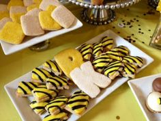 Bumble Bee Inspired Mini Pop Tarts and Cutout Cookies by Sweet Cheeks Baking Company