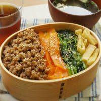 レンジで10分!3種のナムルと豚そぼろのビビンバ弁当【韓国ねぼすけ】