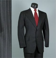 black && white pinstripe suit with white dress shirt and white tie. Or switch the color of the tie and shirt.) just a deeper red color. Black Leather Dresses, Black Dress Shoes, White Dress, Pinstripe Suit, Thing 1, Tie Shoes, Sharp Dressed Man, Black Suits, Suit And Tie