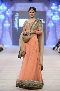 Pakistani designer dress, bridal cuture week 2014