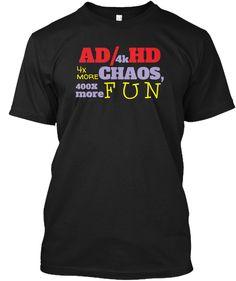 Ad4k Hd Black T-Shirt Front