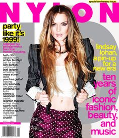 Flashback to our 10th anniversary issue with Lindsay Lohan