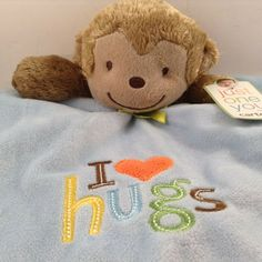 I Love Hugs Monkey Carter s Blankie Just One You Security Blanket Lovey Soft New Love Hug, My Love, Baby Security Blanket, Bath Girls, Carters Baby Boys, Pink Cat, Washing Clothes, Hugs, Baby Items