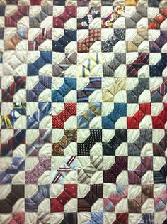 Artful Ties - Bowtie quilt made with old neckties!