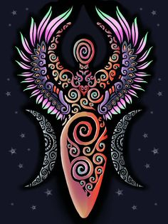 Popular All Time - Your spot for viewing some of the best pieces on DeviantArt. Gaia Goddess, Mother Goddess, Sacred Feminine, Divine Feminine, Goddess Symbols, Witch Tattoo, Goddess Tattoo, Pagan Art, Triple Goddess