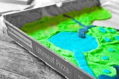 3D térkép gyurmából dobozban :)