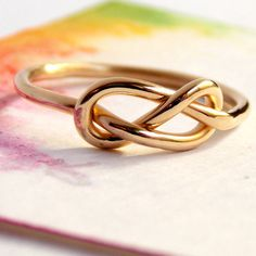 Infinity Knot Ring: 14K Yellow Gold-filled Ring