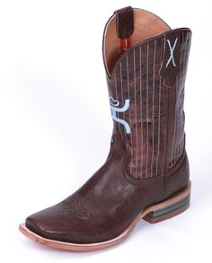 Hooey Collection by Twisted X Boots Men's Chocolate Pinstripe Boots - www.fortwestern.com