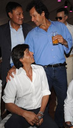 With Imran Khan. . . Pakistan former cricket player. . .