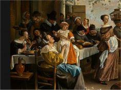 STEEN Jan Havickszoon - Dutch (Leiden 1625/26 - 1679 Leiden) - Dancing couple