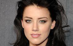 faces brunette | Actress Eye Amber Heard Brunette Close Up Face Girl Wallpaper with ...