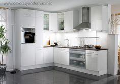 beyaz akrilik mutfak modelleri