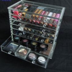 Makeup (Acrylic) organizer This beautiful & durable acrylic organizer has 7…