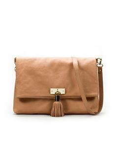 slim nude shoulder bag with a tassel? i might be in heaven.