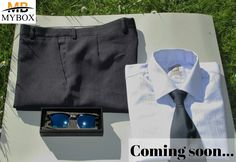 This is a sample of what you would expect in a formal box.  Items will change from month to month. 100% cotton business shirt  100% polyester trousers Polarized Sunglasses  Silk and Polyester tie . Check out our page and register for awesome discounts! :)