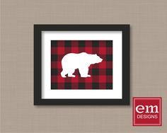 A personal favorite from my Etsy shop https://www.etsy.com/listing/251108893/bear-silhouette-with-buffalo-plaid