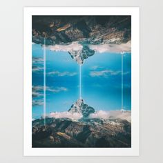 Collect your choice of gallery quality Giclée, or fine art prints custom trimmed by hand in a variety of sizes with a white border for framing. Reflection Art, Print Design, Fine Art Prints, Landscape, Gallery, Frame, Picture Frame, Scenery, Roof Rack