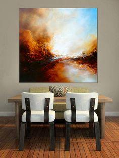 Groot doek Abstract schilderij van Simon door SimonkennysPaintings