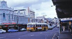 17 - 51 likes 3 shares Tellow bus Karangahape Rd, Auckland in 1980 Auckland New Zealand, My Family History, History Projects, South Africa, Past, Nostalgia, Street View, Memories, London