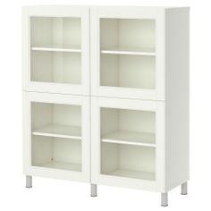 BESTÅ Hylly + vitriiniovet - valkoinen - IKEA, suna, väisänen
