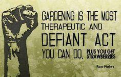 Gardening ... dedicated to Marilyn G. :)