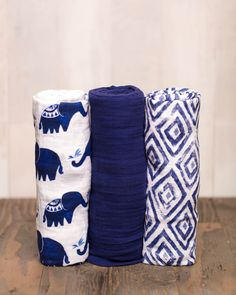 Cotton Swaddle Set - Indie Elephant - Pre-order now!