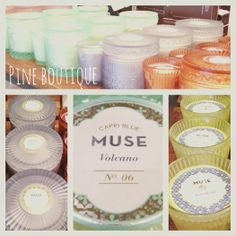 Lots of new Capri Blue Muse candles in! The large jars are $32.99 & the small tumblers are $19.99!