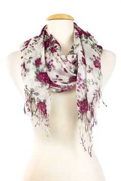 Dressing Your Truth - Type 2 Wild Rose Scarf