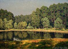 Walter Leistikow - Waldlandschaft mit einem märkischen See