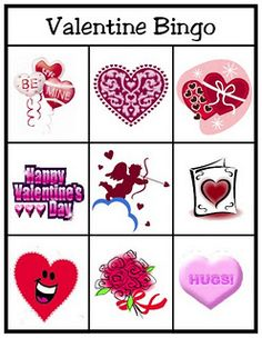 Free adorable valentine bingo and match games!! Very cute!!!