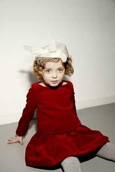 A great red velvet dress for little girls from My Little Dress Up for Holiday 2013