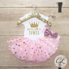 Third Birthday Tutu Outfit / Baby Girl Clothes Young Wild Three 3 Year Old Outfit Three Birthday Set 3rd Birthday Girl Outfit Baby Bow 069