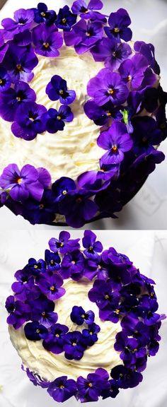 cake pansies
