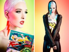 """Creative use of colour gels for fashion: Behind the Scenes of Amy Lynn's """"Kaboom"""" Editorial 