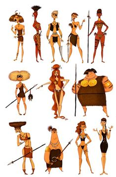 Amazons sketches © Olivier Silvan