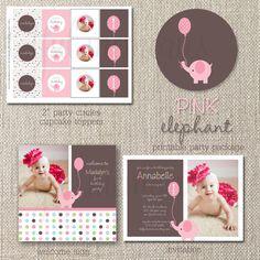 Pink elephant birthday ideas
