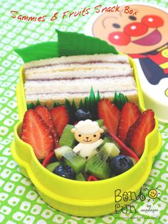 Sammies & Fruits Snack Box by Angeleyes - Bento Fun, via Flickr