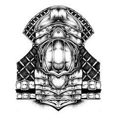 Shoulder Armor Tattoo Designs