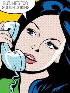 Joseph McDermott - Popular Illustrator for cartoon character Illustrations Bd Comics, Comics Girls, Roy Lichtenstein, Pop Art Drawing, Art Drawings, Drawing Ideas, Comic Books Art, Comic Art, Comics Vintage