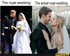 The royal wedding: The actual royal wedding: - iFunny :) Jacksepticeye Memes, Markiplier, Marzia And Felix, Youtube Memes, Stranger Things 2, Roblox Memes, Funny Animal Memes, Hilarious Memes, Funny Animals