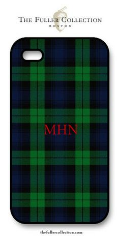 Monogram Tartan - Red Block - ipone Cover – The Fuller Collection