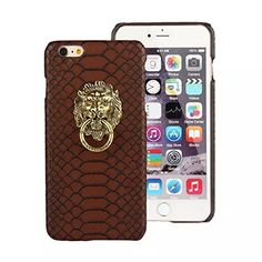 Apple iPhone 6+ 6s Plus Case Lion Head Brown Bronze Slim Fitted Hard Back Cover Skin High Fashion Stylish Style Cool Rock n Roll Unique Speical Chinese Vintage Retro Men Women Girl. Fits Apple iPhone 6 Plus and 6s Plus (does NOT fit iPhone 6/6s 4.7). Cool